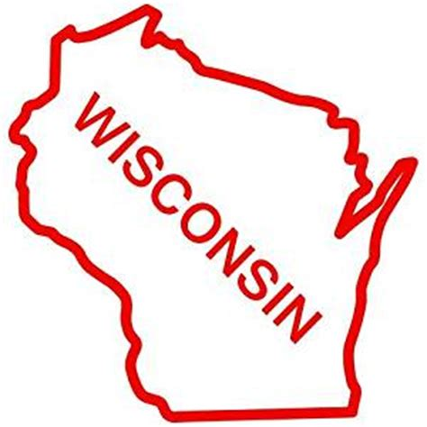 amazon.com: wisconsin state outline decal sticker (red