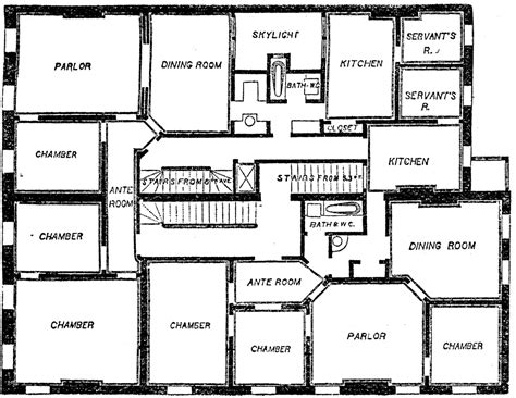 flat plan double flat floor plan clipart etc