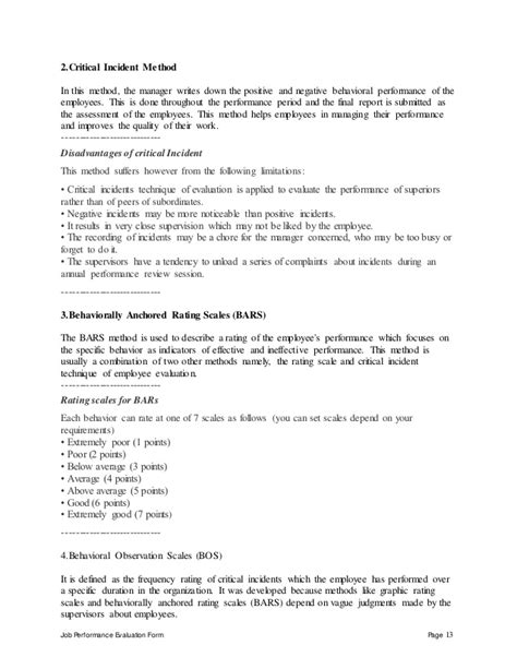 Sle Of Evaluation Letter For An Employee Retail Sales Associate Performance Appraisal