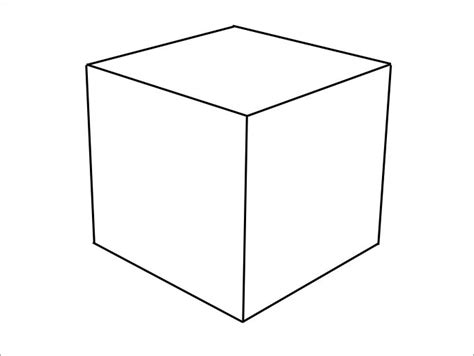 3d box template cube shape template pictures to pin on pinsdaddy