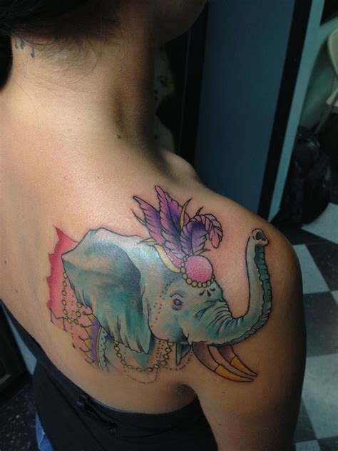 colts timeless tattoos circus elephant to start my half sleeve by grayson hill