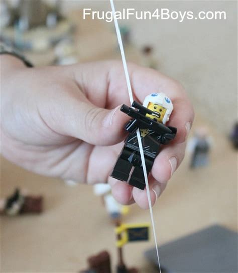how to make a zip line in your backyard make a zip line for lego minifigures and a new lego fun