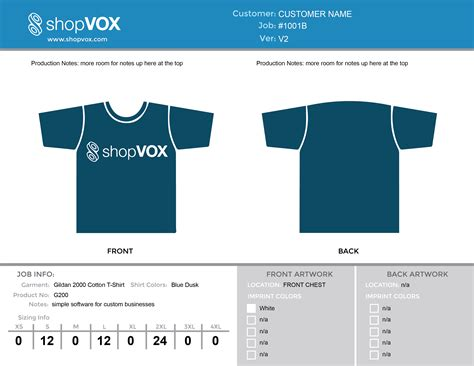 free t shirt proof template print shop management
