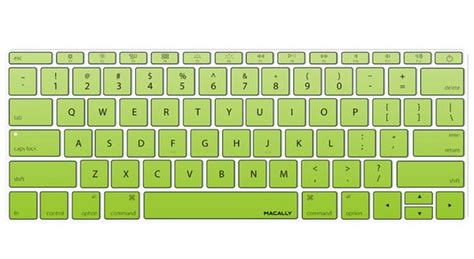 Gradient Keyboard Protection Aksesoris Macbook Mac Book Laptop kbguardmbgng green gradient keyboard protector for