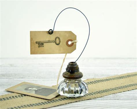 Door Knob Holder vintage door knob photo holder wire picture or card holder