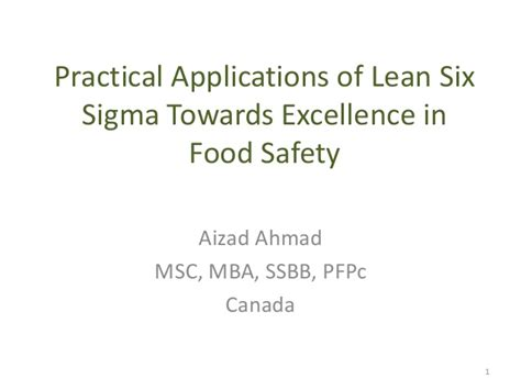 Mba In Canada Process by Application Of Lean Six Sigma In Food Processing Process