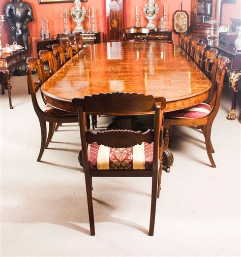 antique victorian burr marquetry walnut dining table
