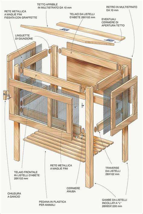gabbie per conigli da interno gabbia per conigli fai da te progetto completo e dettagliato