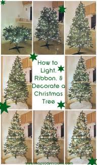 how to light ribbon and decorate a tree