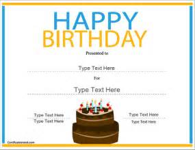 happy birthday certificate templates free 21 birthday certificate templates free sle exle