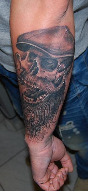 bearded skull tattoo bearded skull barba