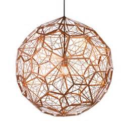 Wood Sphere Chandelier Replica Tom Dixon Etch Light Web Copper Pendant Light