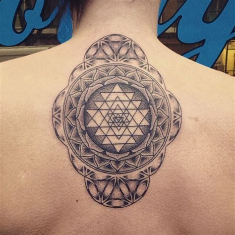 sri yantra tattoo wanderlust sri yantra tattoobyhand
