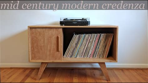 mid century modern record cabinet building a mid century modern style credenza record