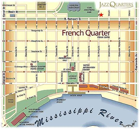 map of quarters quarter map with attractions quarter map