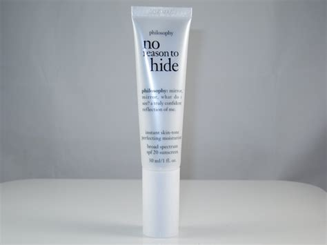 Reasons To Get A Tinted Moisturiser by Philosophy No Reason To Hide Instant Skin Tone Perfecting