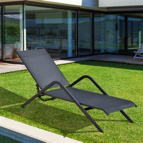 Patio Chairs Deals Outsunny Outdoor Patio Reclining Chaise Lounge Chair