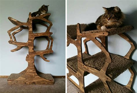real tree or fake foe cats handmade cat tree from enchanted home designs hauspanther