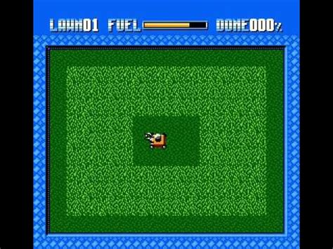 cutting grass games with a lawnmower nes homebrew game lawn mower youtube