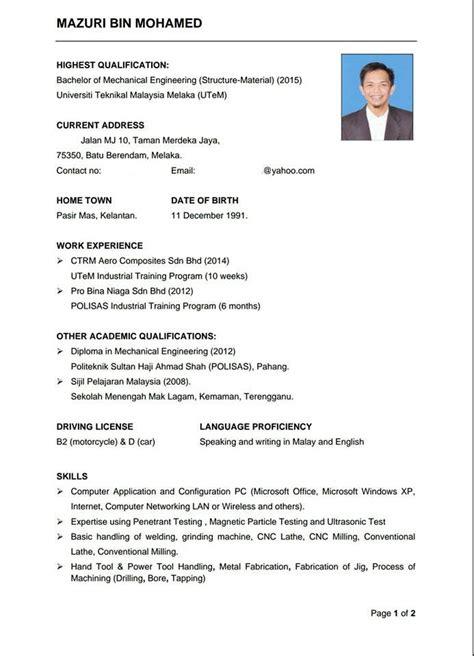 contoh bio buat twitter twtengineering on twitter quot contoh resume yang simple