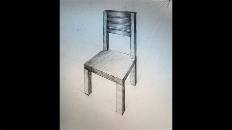 2 Drawings In 1 by How To Draw Chair Two Point Perspective Practice