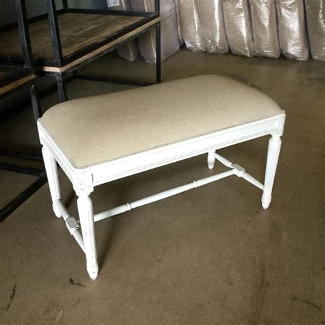 small padded bench small upholstered bench with fluted legs nadeau charleston