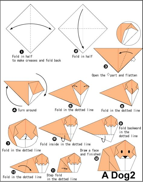 How To Make A Paper Puppy - 2 easy origami for