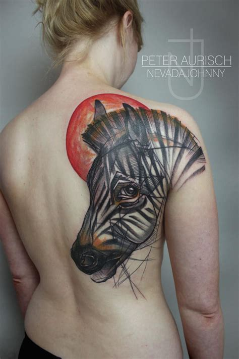 geometric zebra tattoo abstract back zebra tattoo peter aurisch http