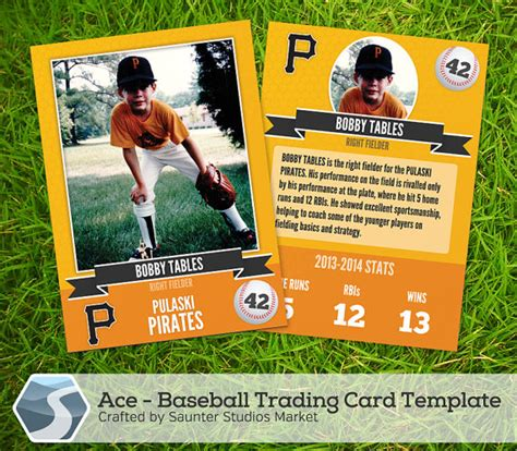 sports trading card template ace baseball trading card 2 5 x 3 5 photoshop