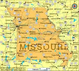 map of united states missouri missouri map united states of america