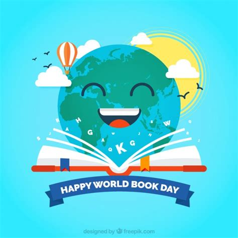 Book Of Earth happy earth reading a book background vector free