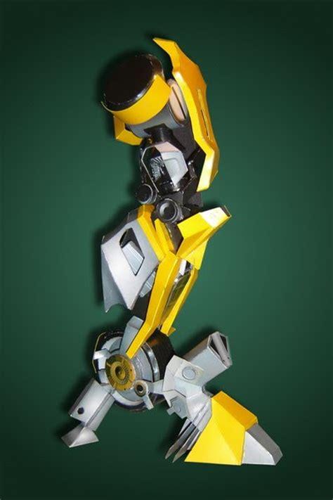 Bumblebee Papercraft - transformers papercraft bumblebee legs paperkraft net