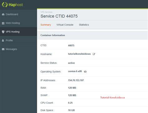 belajar membuat vps vps gratis dari haphost ini cocok buat hosting dan yang