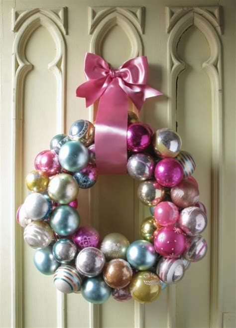 diy christmas wreath from tree ornaments 1 500x695 jpg