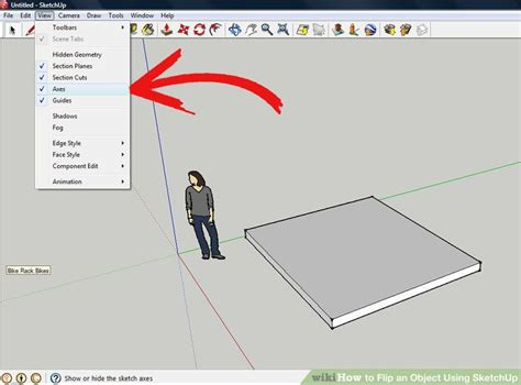 google sketchup tutorial mirror how to flip an object using sketchup 5 steps with pictures