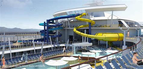 Titanic Menus by Royal Caribbean Will Add Water Slides To All Oasis Class