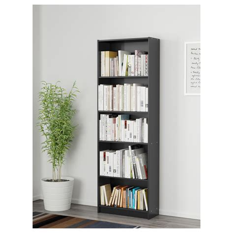 Finnby Bookcase Black 60x180 Cm Ikea Ikea Black Bookshelves