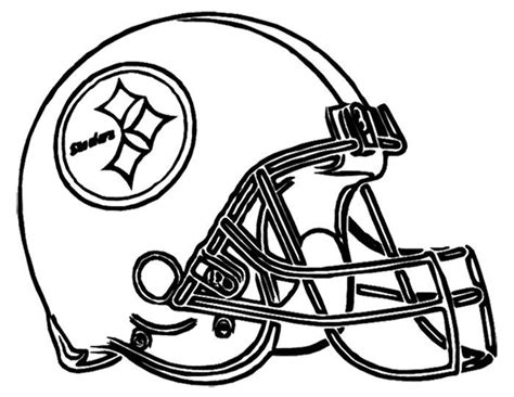 football helmet steelers pittsburgh coloring page nfl