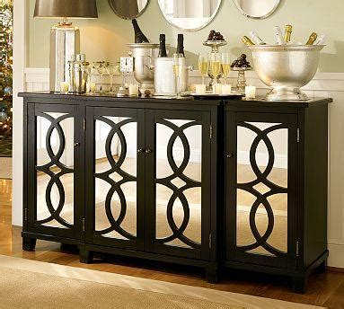 Mirrored Dining Room Buffet by Terrace Mirrored Buffet Pottery Barn