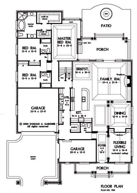 Moderne Schlafzimmer 1423 by Floor Plan Of The Suwanee House Plan Number 1198