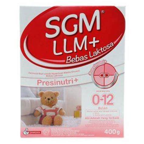 Sgm Llm 400gr pemilihan formula bayi alergi