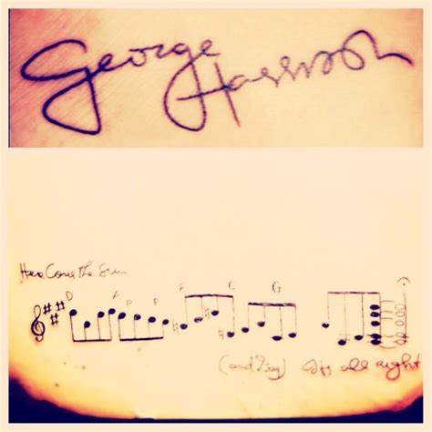 here comes the sun tattoo top photo is on my foot of george harrison s
