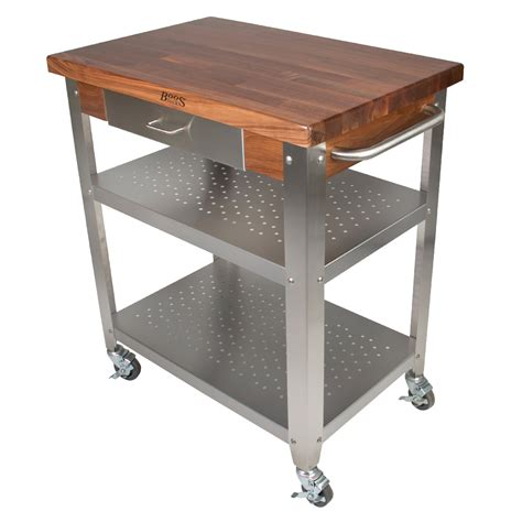 boos cucina boos cucina elegante cart w walnut top on sale free