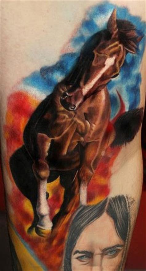 tattoo 3d horse brown ink 3d running horse tattoo tattooshunt com