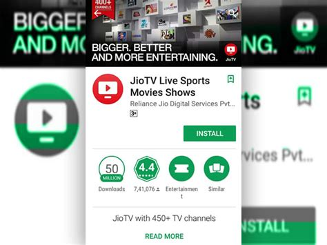Play Store Jio Jio Tv App Is Now The Ninth Most Downloaded App On
