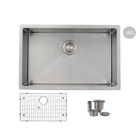 Stainless Steel Grid For Kitchen Sink 28 Quot Single Bowl 16g Stainless Steel Kitchen Sink With Grid S 306xg Emerald