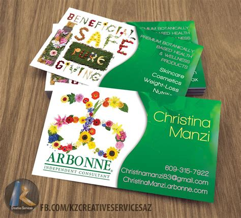 Arbonne Business Card Free Template by Arbonne Business Cards Style 3 183 Kz Creative Services