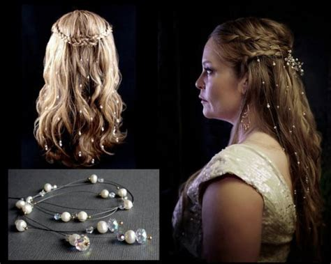 hair pieces from reign tv show 9 extra sparkly swarovski crystal hair extensions bohemian