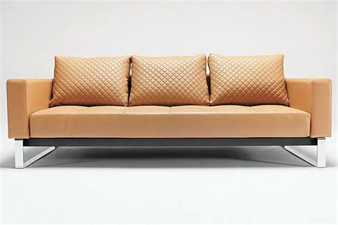 Camel Leather Sofa Innovation Usa Cassius Deluxe Camel Leather Textile Sofa Bed Contemporary Sofas Other