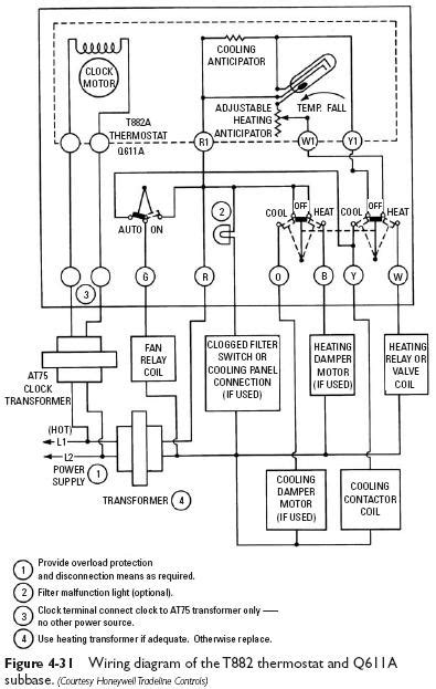programmable thermostat wiring diagram honeywell